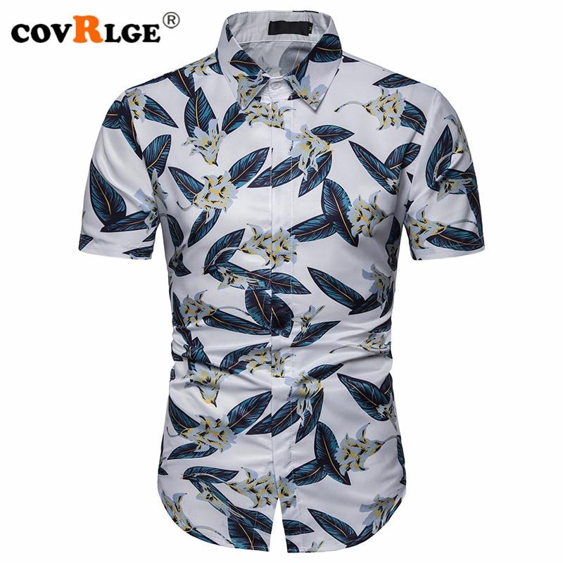 shinianlaile Mens Fashion Short Sleeve Beach Shirts Printed Button Down Shirt