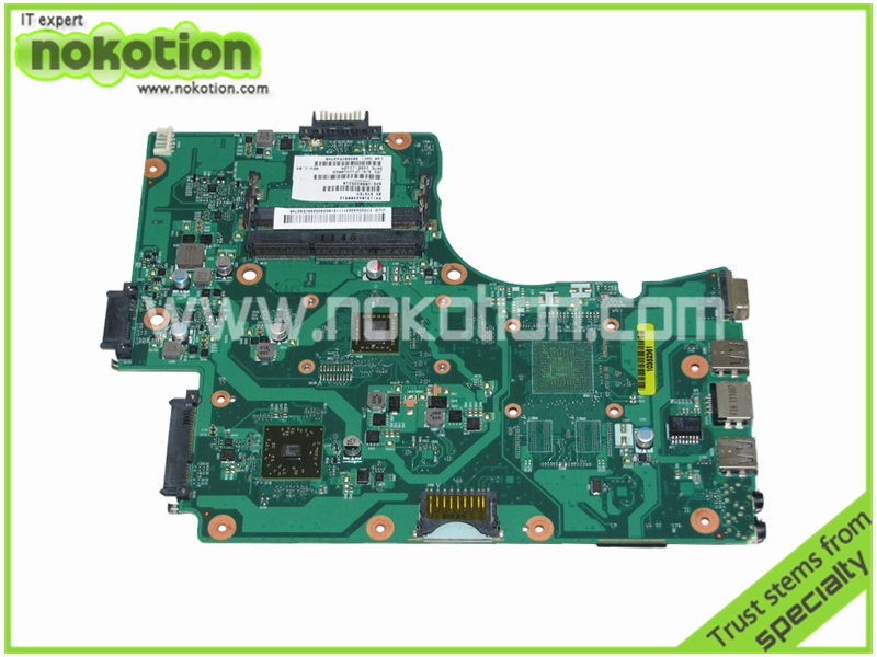 NOKOTION V000225210 Laptop Motherboard for Toshiba Satellite C655D PN 1310A2408912  E-300 1.3GHz CPU 6050A2408901-MB-A02 nokotion sps v000198120 for toshiba satellite a500 a505 motherboard intel gm45 ddr2 6050a2323101 mb a01