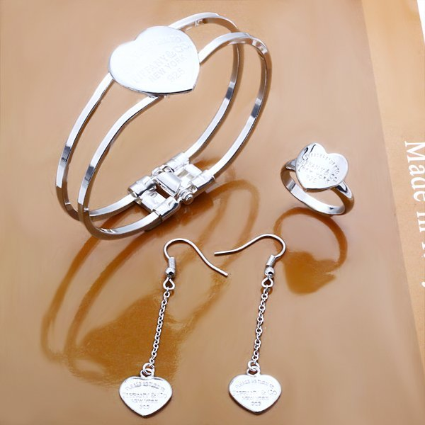 Free shipping 925 Sterling Silver Jewelry set,Factory Price Fashion Jewelry Set S291
