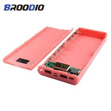 PD18W Power Bank Case 8*18650 Battery Mobile Phone Charger DIY Shell Charging Treasure Box QC3.0 Circuit Board For iphone diy power bank case circuit board set black