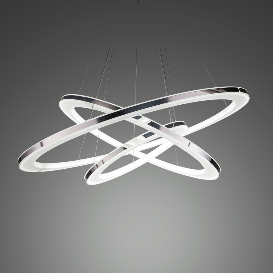 цены Free shipping Led Pendant Light Modern Pendant Lamp Three Rings Lamp Pendant for Dinning Living Room Acrylic Stainless Steel