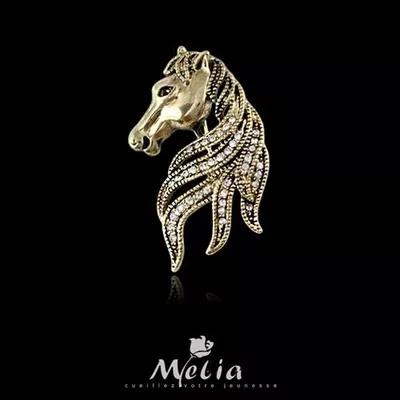 Broche Pin Broches de Animais 2017 New Arrival Top Quality Jóias Exclusivas Moda Estilo Vintage Cabeça de Cavalo Anima Broche Para Homens