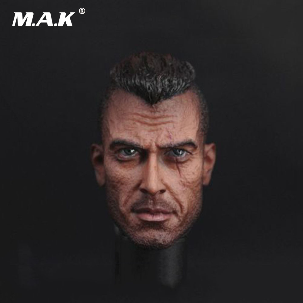 1/6 Scale Male Head Sculpt Call Of Duty Ghosts Head Soap Sculpt Carving For 12 Action Figure Accessory