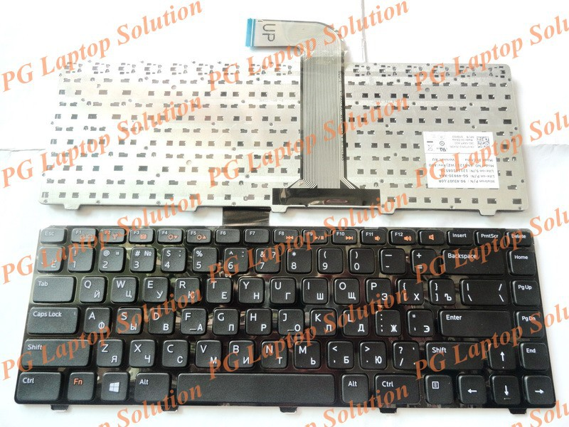 Russian Keyboard for Dell Inspiron N4040 M421R 5420 7420 14R 5520 7520 13Z N311z 14Z N411Z 14VR RU Black крепление для жк дисплея ноутбука 14r 5420 14r 5420