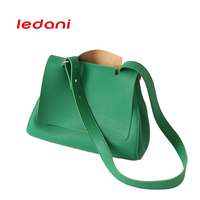 LEDANI Sıcak Satış Lady Moda Omuz Çantası PU Alışveriş Çanta Yeşil Büyük Kapasiteli kadın Yaz Debriyaj Çantası Çantalar