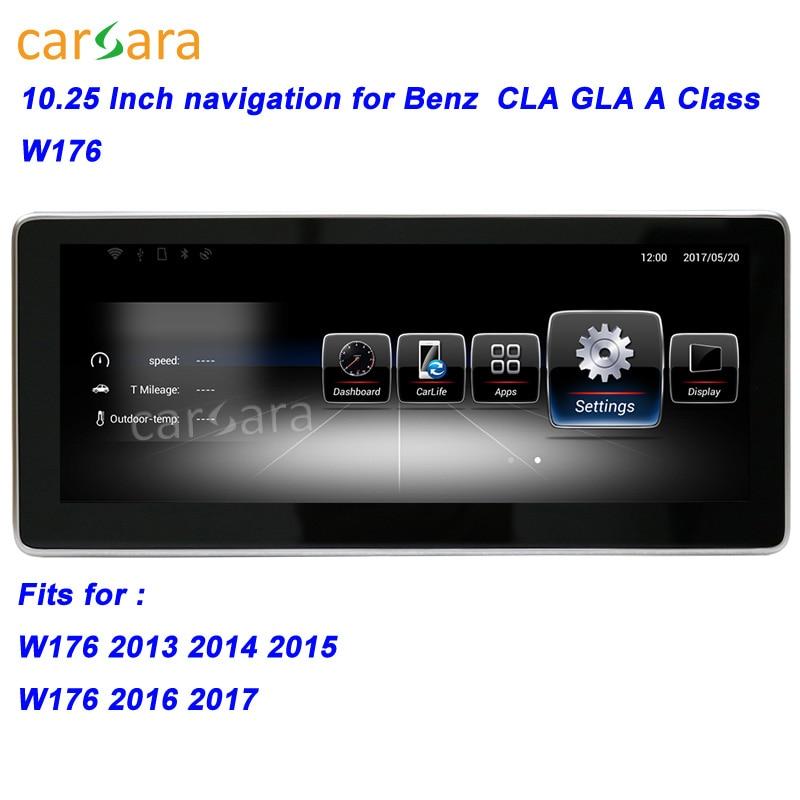 W176 GPS Per Auto Unità di Testa di Navigazione per Mercedes CLA/GLA/A Classe Smart Radio Stereo 10.25 Grande Schermo per Ben z 13-17 Multimedia