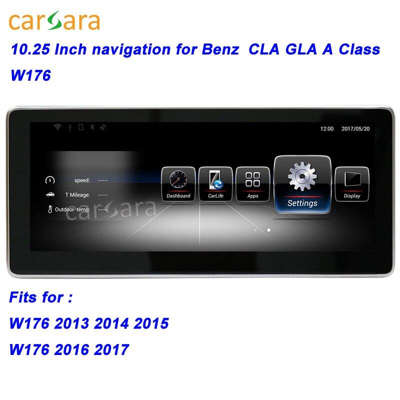 W176 Voiture GPS Navigation Unité de Tête pour Mercedes CLA/GLA/UNE Classe Smart Radio Stéréo 10.25 Grand Écran pour Ben z 13-17 Multimédia