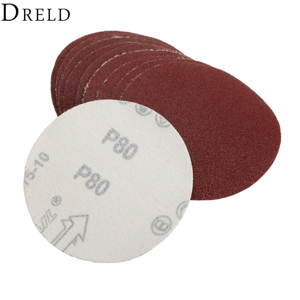 10Pcs Dremel Accesories 100mm Sanding Discs For Woodworking Sandpaper For Rotary Tool Grinding Polishing Grit 60/80/120/180/240