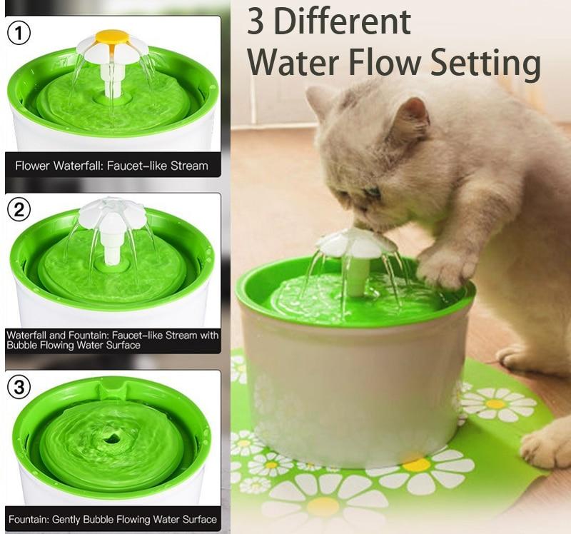 Automatische Wasser Brunnen Pet Schüssel Katze Trinken Blume Wasser Dispenser Petsafe Trinken Mit Filter Pet Wasser Brunnen Katze Hund