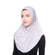 As Mulheres muçulmanas Hijab Islâmico Tampa Interna Envoltório Headwear Xale Longo Lenço Macio