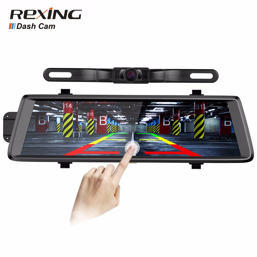 Rexing D700 Plus ,1080P With Waterproof Rear Camera,10 inches Touch Screen,Car Dvr Camera Dash Cam,G-sensor, Rear view mirror