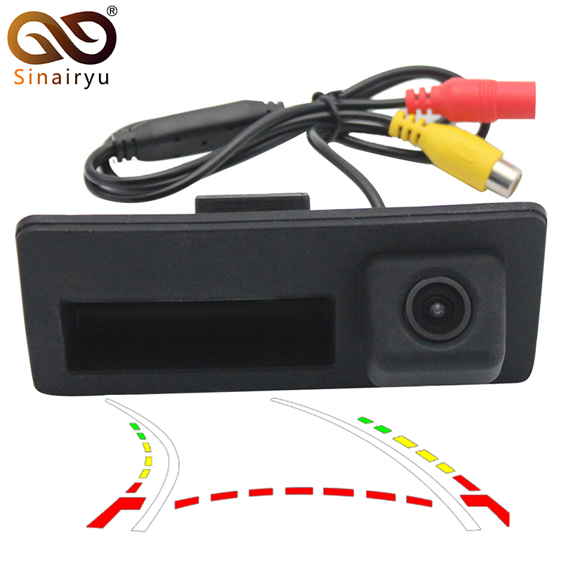 Dynamic Trajectory Parking Line Car Reverse Backup Trunk Handle Camera For VW Jetta Touareg Sharan Passat Golf Audi A3 A4 A6