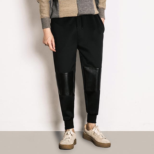 Estudante roupas primavera inverno dos homens sweatpants homens moda casual calças harém streetwear hiphop masculino grosso quente K174