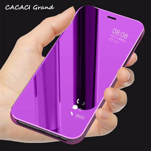 Low price for 9 1 cover mirror case for samsung j4 j6 a5 a6 a8 plus j2 pro capa 2018 clear view flip cover malvernweather Images