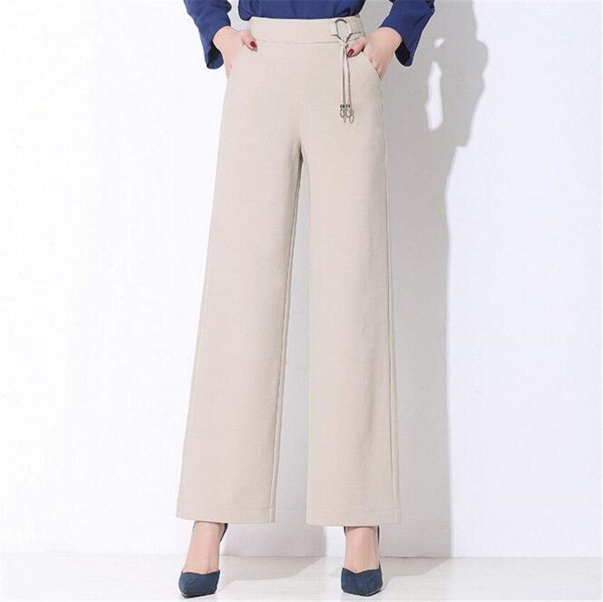 Mlcriyg новая весна кожи свободные широкие ноги Штаны элегантный дисплей тонкие брюки 4 цвета прямые брюки Tube