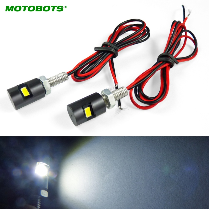 MOTOBOTS 20pcs White Motorcycle & Car LED License Plate Bolt Light LED Light #CA3082