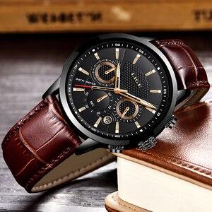Image 4 - LUIK 2019 Nieuwe Horloge Mannen Mode Sport Quartz Klok Heren Horloges Merk Luxe Lederen Zaken Waterdicht Horloge Relogio Masculino
