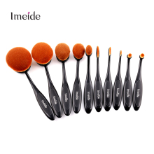 10pcs Oval Toothbrush Makeup Brush Set Make Up Brushes Pincel Maquiagem Kit Pinceis Brochas Maquillaje Pinceaux with Retail Box