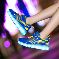 Children Sport Shoes Girls Boy Glowing Sneakers Shoes Luminous USB Charging Kids shoes With Light Children Sneaker Led Enfant