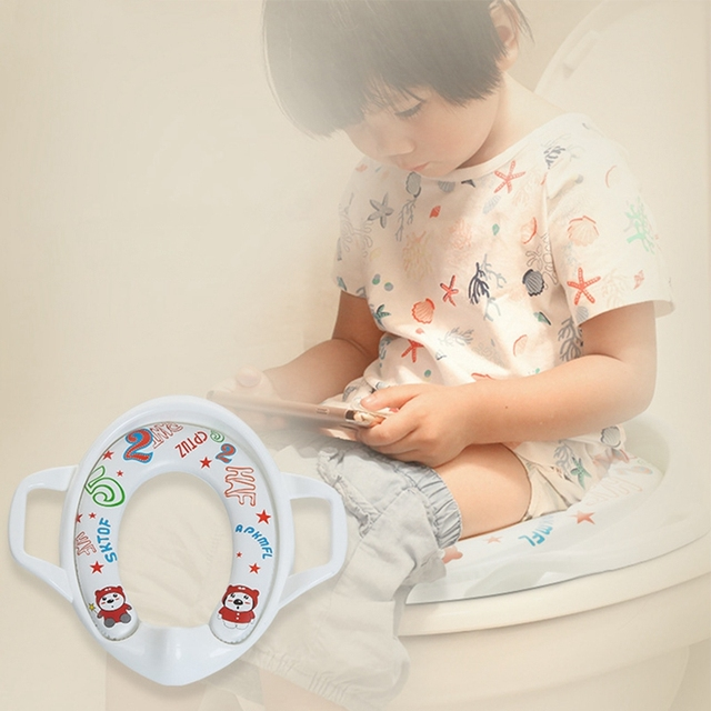 Soft Padded toilet training seat with Handles for Convenience