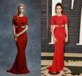 2017 Sexy Redd Mermiad Long Celebrity Dresses Red Carpet robe de star courte celebrity tapis rouge rouge 2017