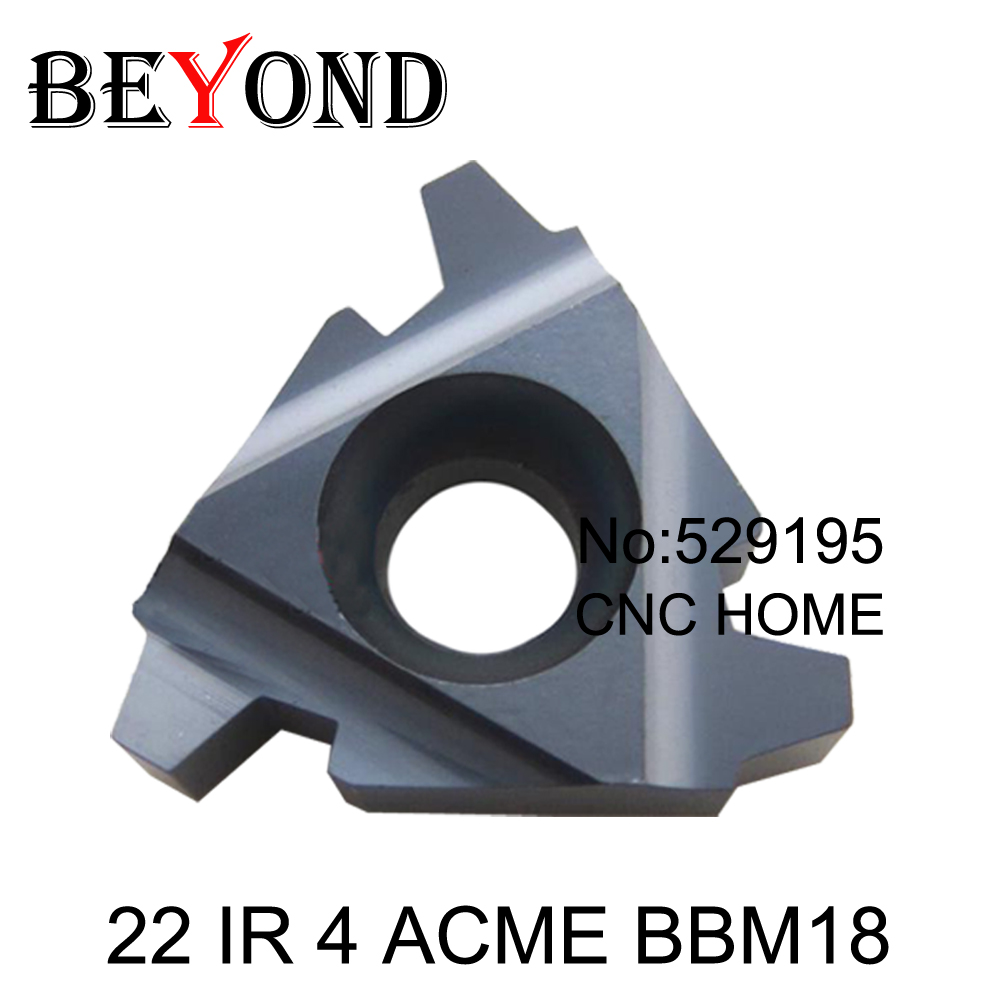 22 IR 4 5 6 ACME BBM18 OYYU Indexable Tungsten Carbide Threading Lathe Inserts ACME thread