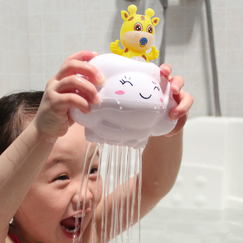 Baby Bathroom Play Water Bath Toys Rain Clouds Deer Piggy Bathroom Shower Beach Play Water Cartoon Classic Kid Educational Toys