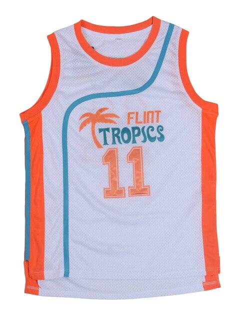 fa22a0f0868 Retro Movie Semi Pro Flint Tropics Jackie Moon 33  Coffee Black 7  Ed Monix  11  Throwback jersey size extra small XS s 4xl-in Basketball Jerseys from  Sports ...