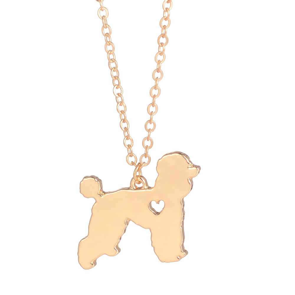 Wholesale 30pcs Poodle Necklace Dog Groomer Gift Breed Necklace Silver Dog Pendant New Pet Pet Memorial Gift Pet Loss for lovers