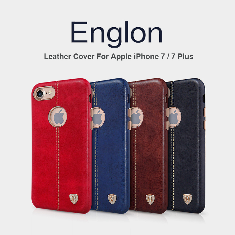 Nillkin Englon Series For Apple iPhone 7 Case Luxury PU Leather Back Cover For iPhone 7 Plus Phone Cases Support Magnetic Holder