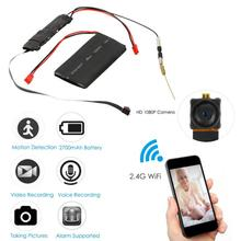 DIY Wifi Camera Mini Full HD 1080P Camcorder P2P Motion Detection Video Security with 2.4G RF Remote Control