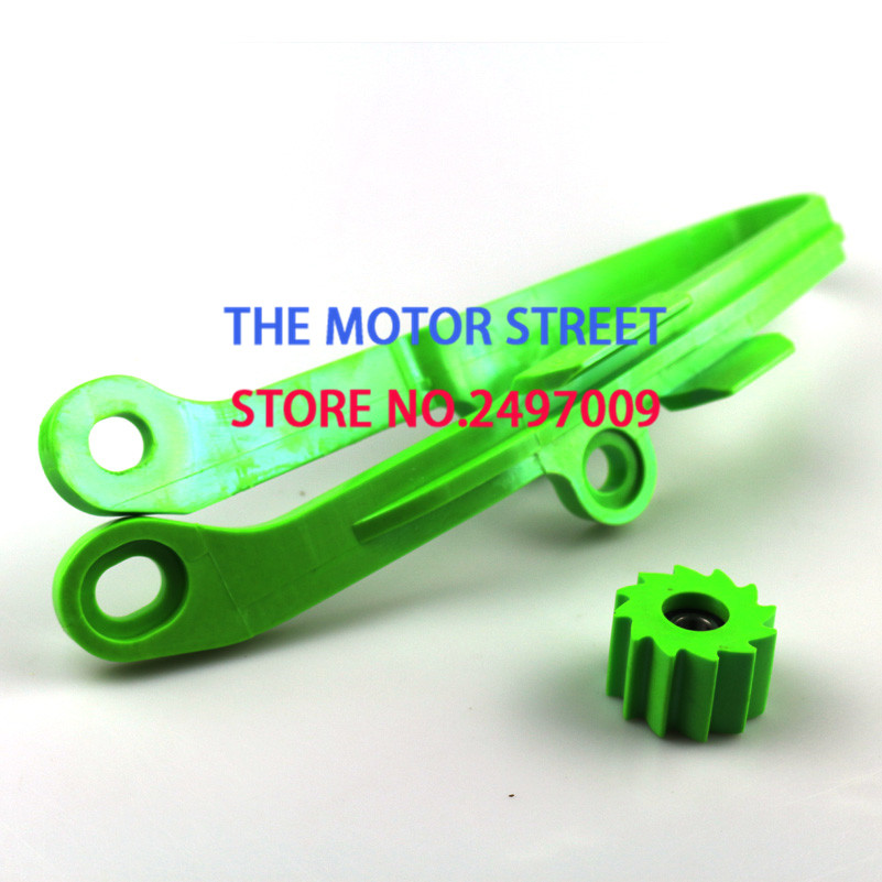 free shoppin Green Chain Slider Guide Swingarm Roller For KAWASAKI KXF250 KXF450 KX250F KX450F KXF <font><b>250</b></font> 450 Motorcycle 2009-2016 image