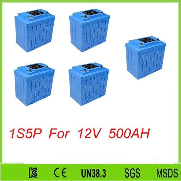 5 pcs 1S5P 12 V Au Lithium Fer Phosphate Batterie 100Ah pour L'énergie Solaire/Lifepo4 12 v 100ah Batterie Pour 12 V 500AH batterie lifepo4