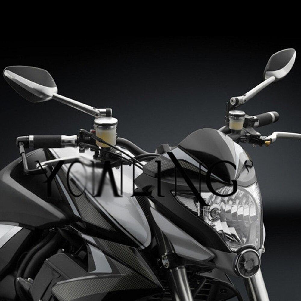 Мотоцикл задняя сторона зеркала алюминий ЧПУ зеркала заднего вида для Хонда Сузуки Кавасаки z750 компании Hyosung gt250r БМВ S1000RR r1200gs