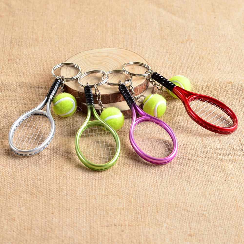 Spot wholesale mini tennis tennis racket key button creative personality advertising promotional activities promotional gifts