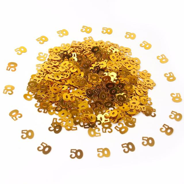 Happy Birthday Gold Confetti