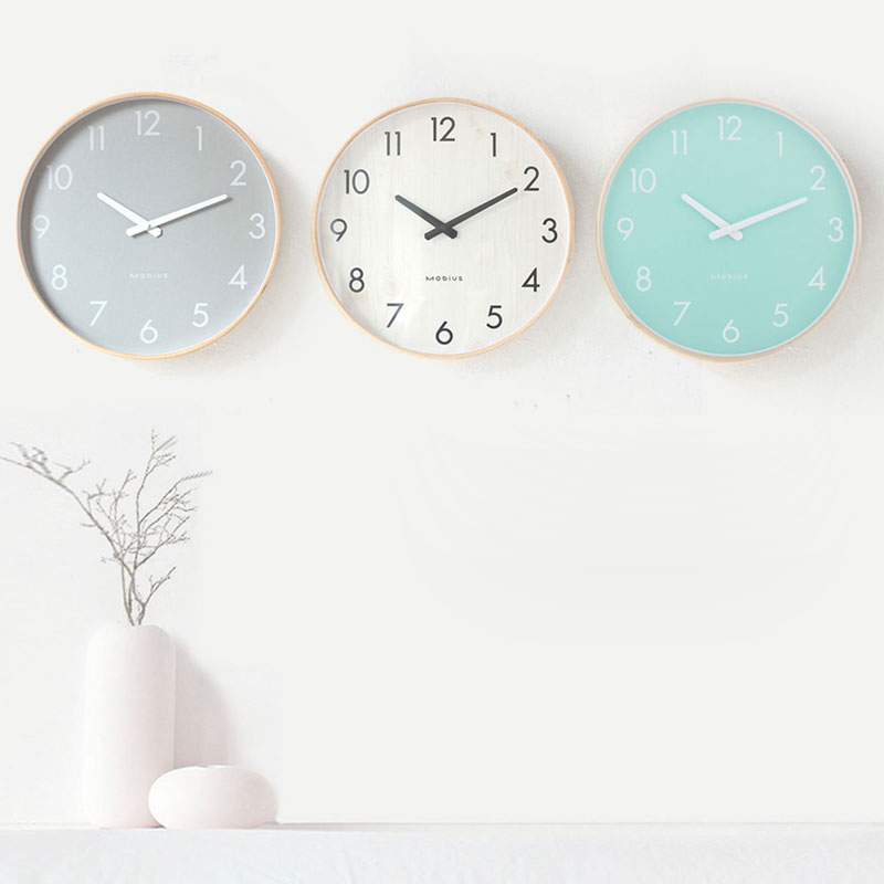 16in Diy Wall Clock Modern Design Living Room Quartz 3D Kitchen Wood Wall Watch Clocks Home Decor