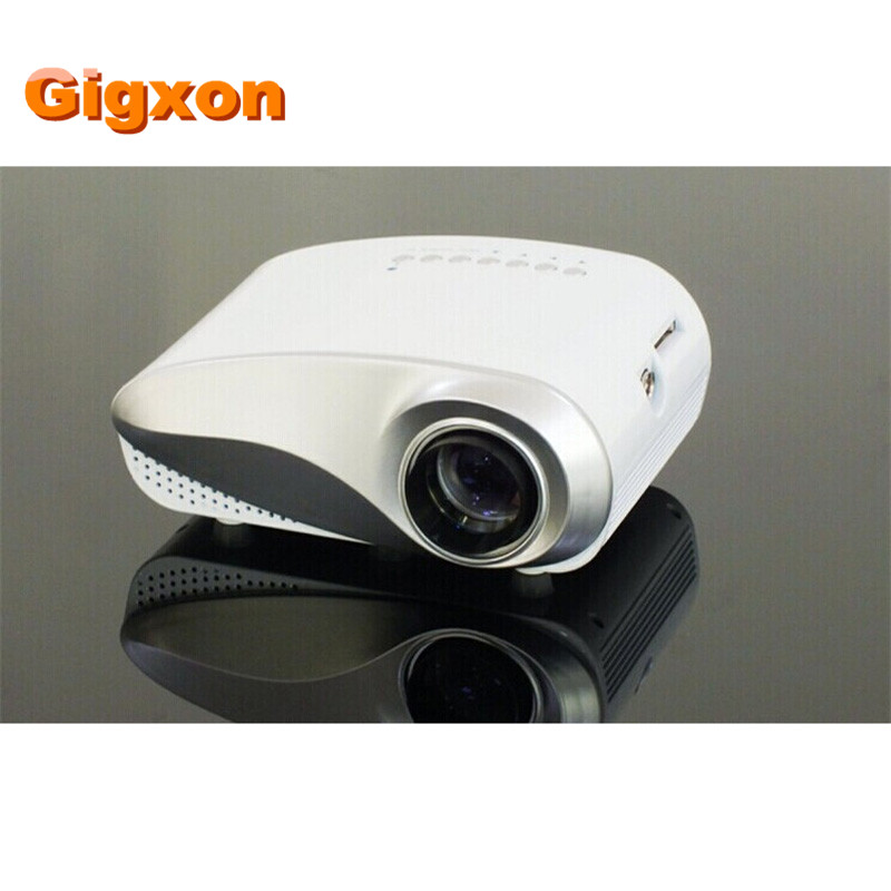 Gigxon - h600 480*320p support full hd mini projector support digital tv/av/usb/hdmi/vga...