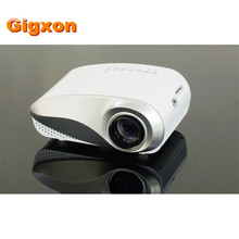 Gigxon-H600 480*320 P full HD mini proyector soporte digital TV/AV/USB/HDMI/VGA proyector LCD