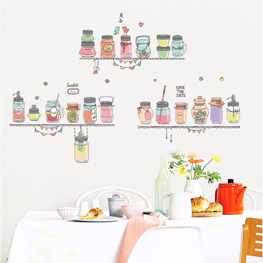 Nordic style color fuel bottle wall sticker living room office study bedroom creative art painting vinyl self adhesive wallpape