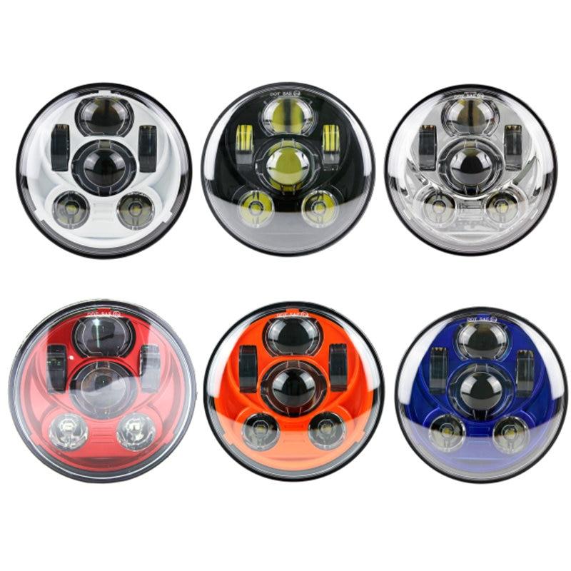 5 pouces LED Headlihgt lampe 5 3/4 pouces point rond mer E9 remplacer H5006 H5001 pour 883 Sportster Triple Low Rider