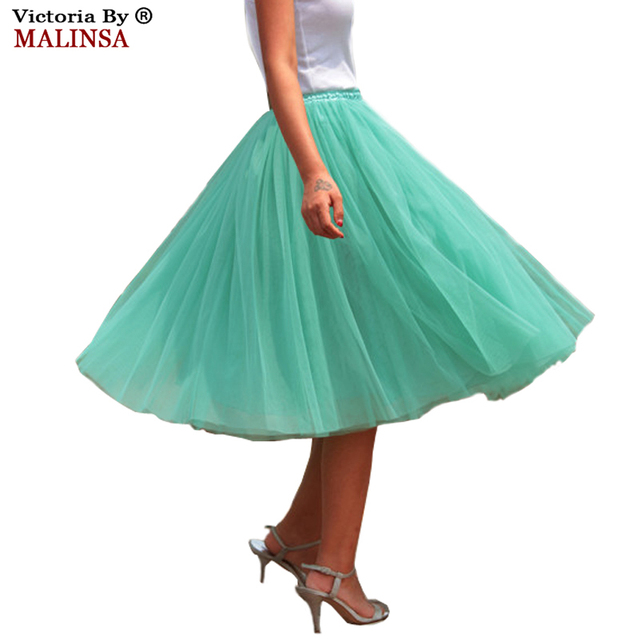 2017 Summer Womens Lace Princess Fairy Style 5 layers Voile Tulle Skirt Bouffant Puffy Fashion Skirt Long Tutu  Skirts