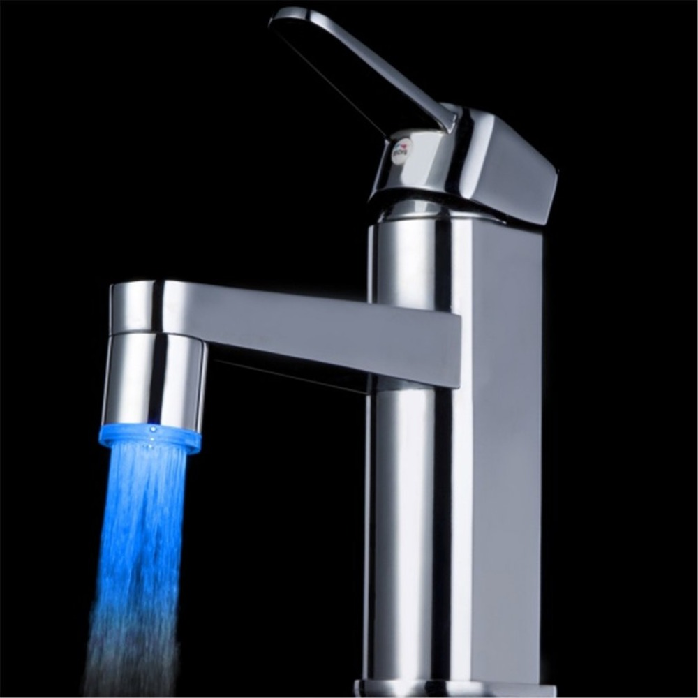 7 Colors Changing NO Battery LED Water Faucet Tap Heads Glow LED Water Faucet Glow For Home Kitchen Tap Bathroom Nozzle