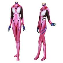 Adult Kids  Asuka Cosplay Langley Sory Costume Zentai Superhero Bodysuit Suit Jumpsuits Japanese Manga BOOCRE