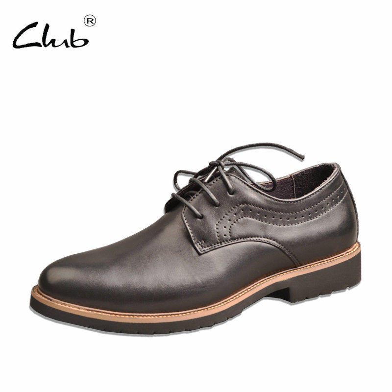 Club Black Leather Formal Shoes For Men Lace-up Dress Shoes Men Italian Leather Shoes Luxury Brand Oxfords Shoes Free Shipping