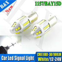 1pair Led White Light Auto Light 24V Turn Signal Lamp Bulb BAY15D 1157 30 XB D