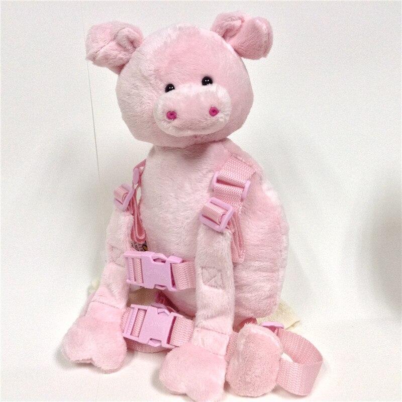 Приятель для того, чтобы держать 2-в-1 Детские накладной Рюкзак Детские поводья для От 1 до 3 лет вокруг - Цвет: Piglet
