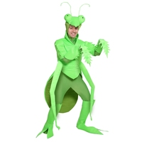 Halloween Funny Adult Men Praying Mantis Costume Lifelike Green Insect Performance Cosplay Clothing