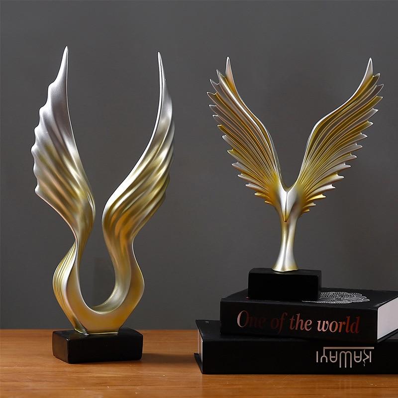 Ktv Office Home Desktop Decor Statue Carve Wings Ornament Bedroom Living Room Decoration Accessories Figurine Garden Sculptures Statues & Sculptures     - title=