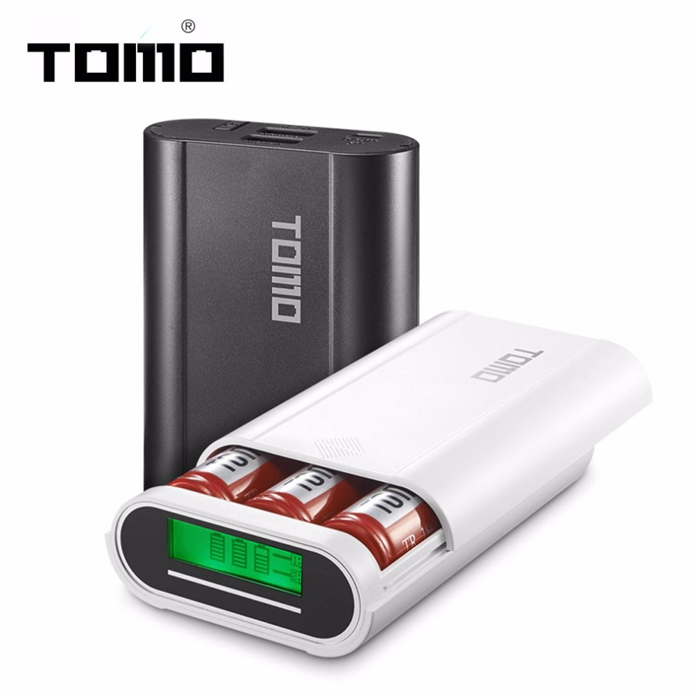 TOMO M3 Intelligent Portable Power Bank For Cellphone 3 x 18650 External Battery Charging Case Battery Replaceable